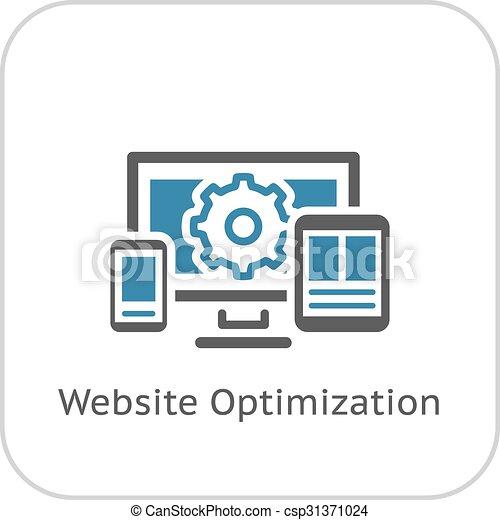 Website Optimization Icon. Flat Design. - csp31371024