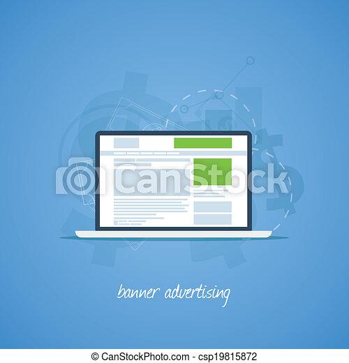 Website pay per click banner advert - csp19815872