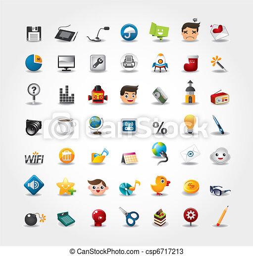 Internet & Website Icons, Web Icons, Icons gesetzt - csp6717213