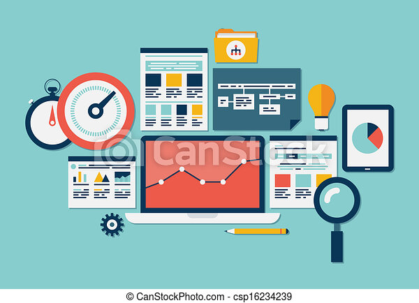 Website SEO and analytics icons - csp16234239