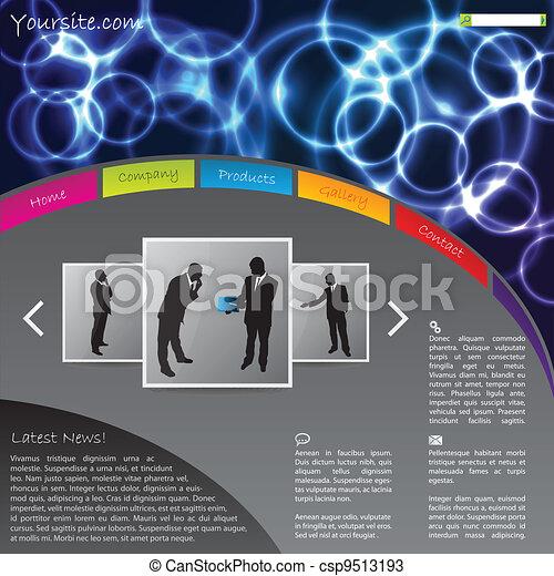 Website template design with plasma effect  - csp9513193
