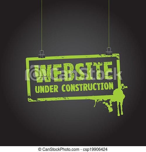website under construction sign - csp19906424