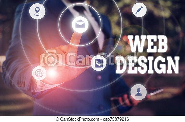 websites., foto, actuación, design., escritura, showcasing, responsable, empresa / negocio, nota, tela, mantenimiento, producción - csp73879216