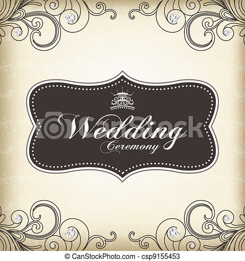(wedding, 型, フレーム, ceremony) - csp9155453