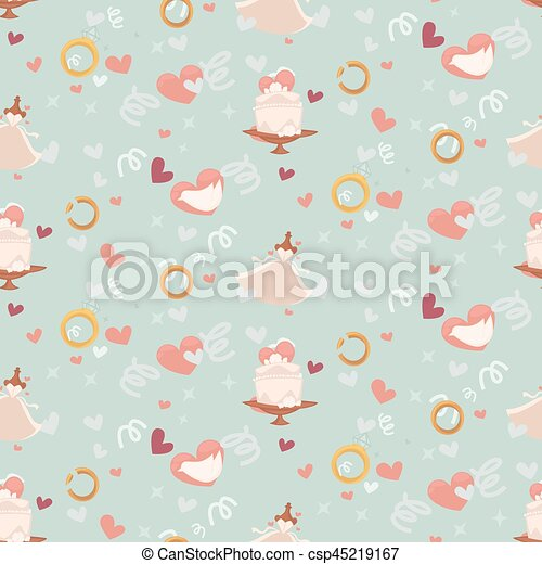 Wedding abstract seamless pattern in pastel soft colors. - csp45219167