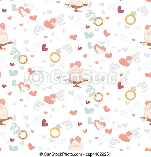 Wedding abstract seamless pattern in pastel soft colors. - csp44029251
