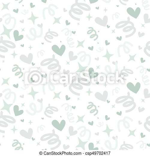 Wedding abstract seamless pattern in pastel soft colors. - csp49702417