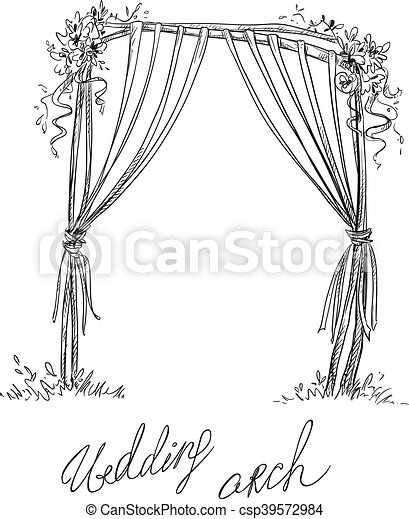 Wedding arch decoration design element vector sketch vector vector wedding arch decoration csp39572984 junglespirit Gallery