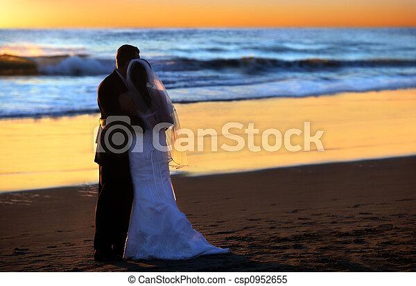 Wedding at sunset - csp0952655