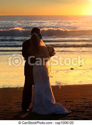 Wedding at sunset - csp1006120
