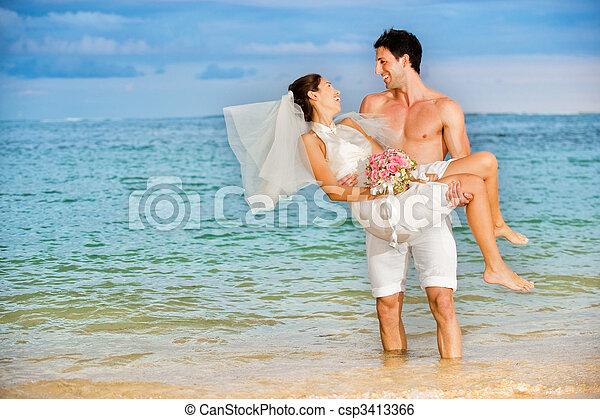 Wedding At The Beach - csp3413366