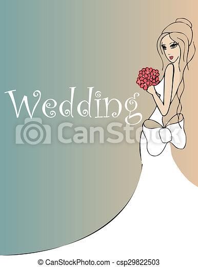 wedding background - csp29822503