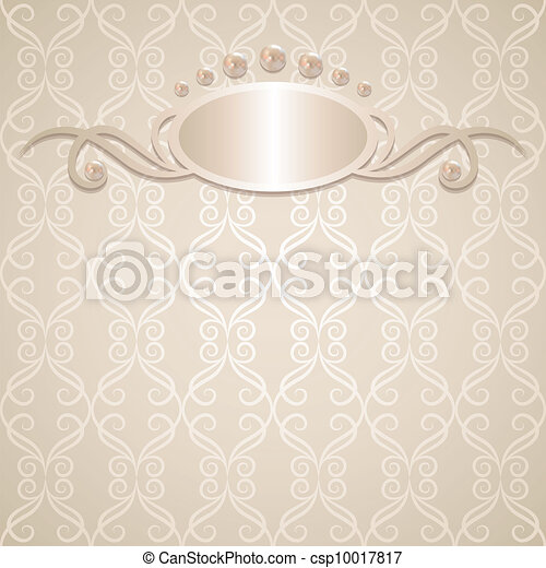 vintage wedding background with pearls vector illustration https www canstockphoto com wedding background 10017817 html