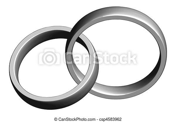 Wedding Bands Stock Illustration