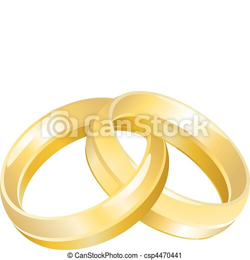 A vector illustration of intertwined wedding bands or rings vector