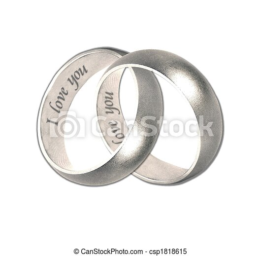 Wedding Bands Silver Stock Illustration