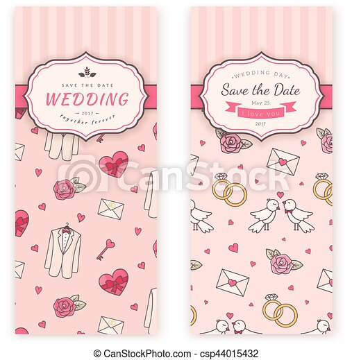 wedding banner template vector decorative background for sweet