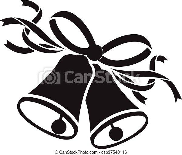 wedding black bells vector clip art search illustration drawings rh canstockphoto co uk Wedding Bells Background Black and White Wedding Bells