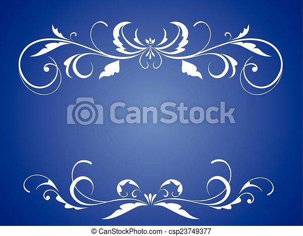 Wedding blue card - csp23749377