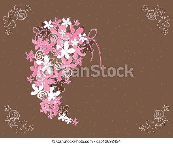 wedding bouquet abstract - csp12692434
