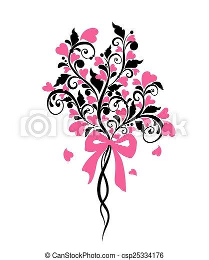Wedding bouquet - csp25334176