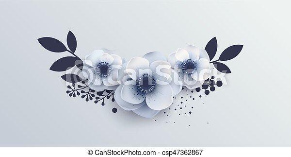 Wedding Bouquet of flowers anemones. - csp47362867