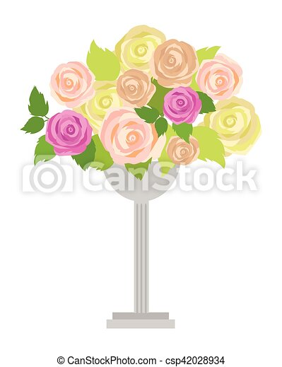 Wedding Bouquet Of Pink White And Green Roses Wedding Bouquet Of