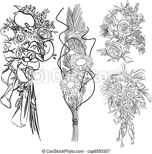 wedding bouquet set - csp6583307