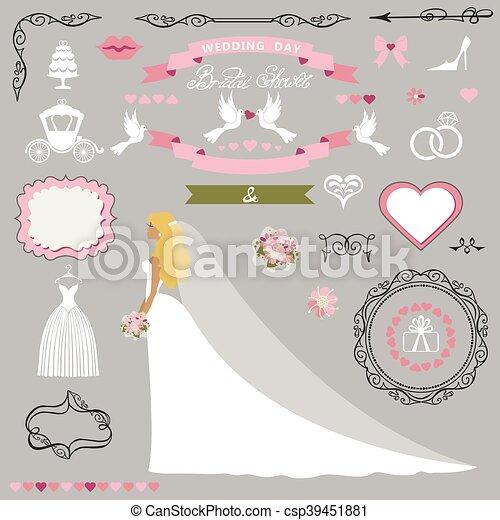 wedding bridal shower decor setbride invitation card kit csp39451881