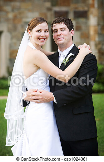 Wedding - Bride and Groom - csp1024061