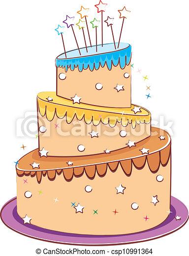 wedding cake - csp10991364