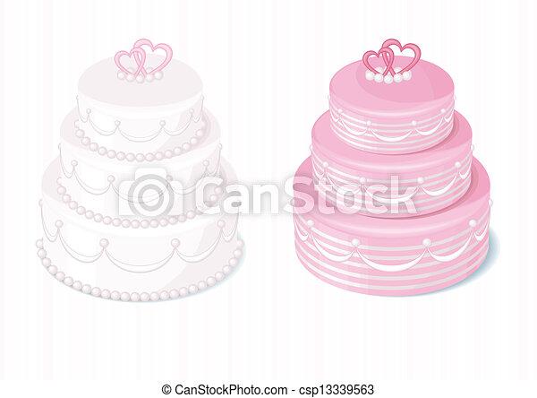 wedding cake - csp13339563