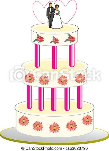 wedding cake - csp3628796