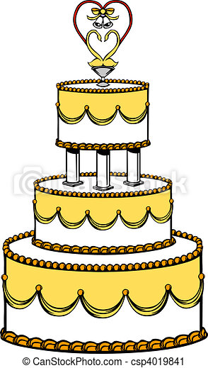Illustration Of A Wedding Cake Clipart