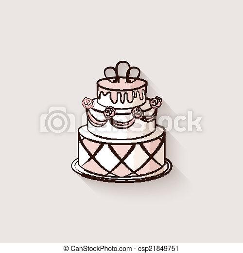 Wedding Cake Design Element Vector Illustration Eps 10