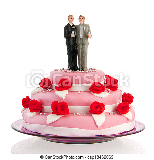 wedding cake gay - csp18462063