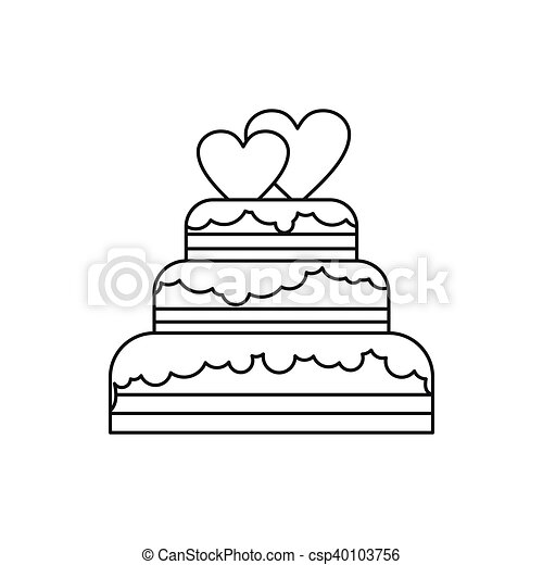 Comps Canstockphoto Ca Wedding Cake Icon Outline S