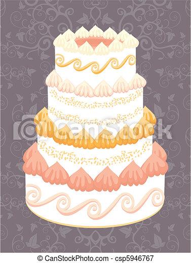 Wedding cake - csp5946767