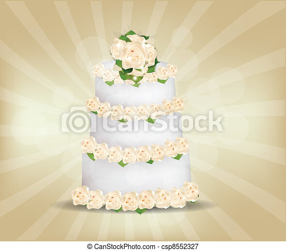 Wedding Cake - csp8552327