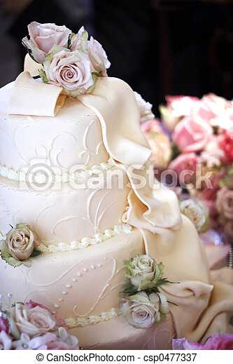 Wedding Cake - csp0477337