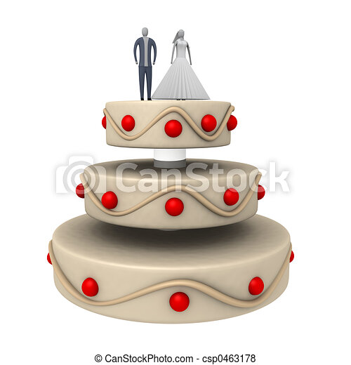 Wedding Cake - csp0463178