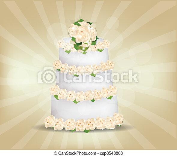 Wedding Cake - csp8548808