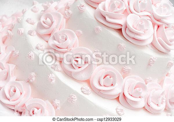 wedding cake - csp12933029