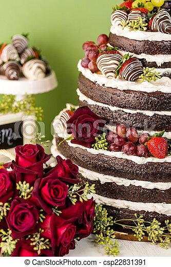 Wedding cake - csp22831391