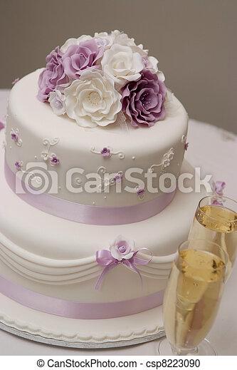 Wedding cake.  - csp8223090