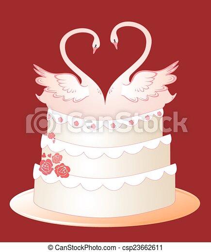 Wedding cake - csp23662611