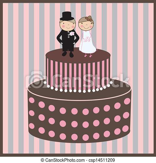 Wedding cake - csp14511209