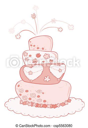 wedding cake. - csp5563080