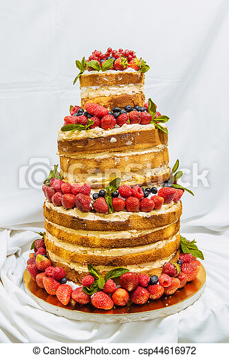 Wedding Cake With Fruit Wedding Cake With Open Biscuit Shortcakes