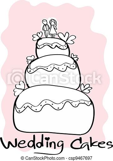 Wedding Cakes - csp9467697